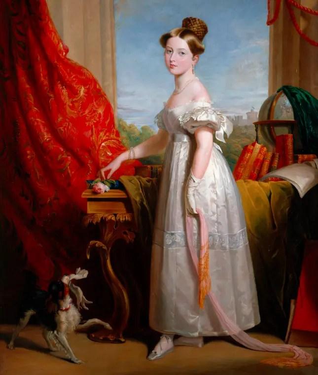 Drina en 1833 par George Hayter - Royal Collection