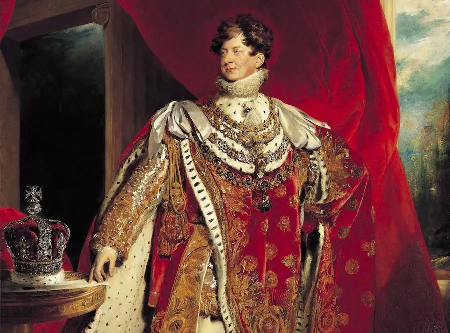 George IV en tenue de sacre en 1821 par Thomas Lawrence - Royal Collection