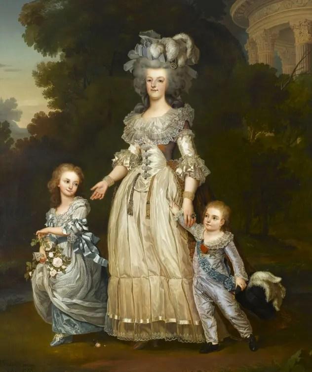 Marie-Antoinette et ses enfants par Eugène Battaille d'après Wertmüller après une commande de l'impératrice Eugénie