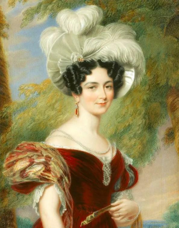 Victoire de Saxe-Cobourg par Geroge Hayter en 1835 - Royal Collection