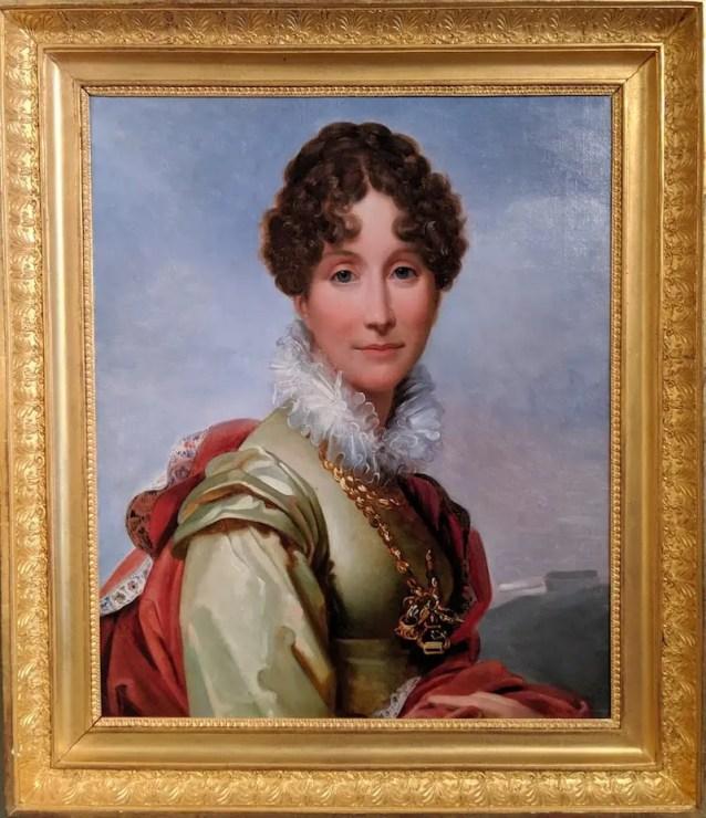 Magnifique portrait d'Adélaïde d'Orléans par François Gérard - Domaine royal de Randan