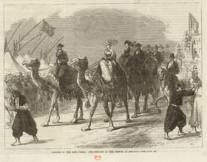lImperatrice des Francais à Ismailia-estampe-The-Illustrated-London-News