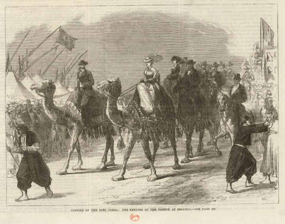 lImperatrice des Francais à Ismailia-estampe-The-Illustrated-London-News