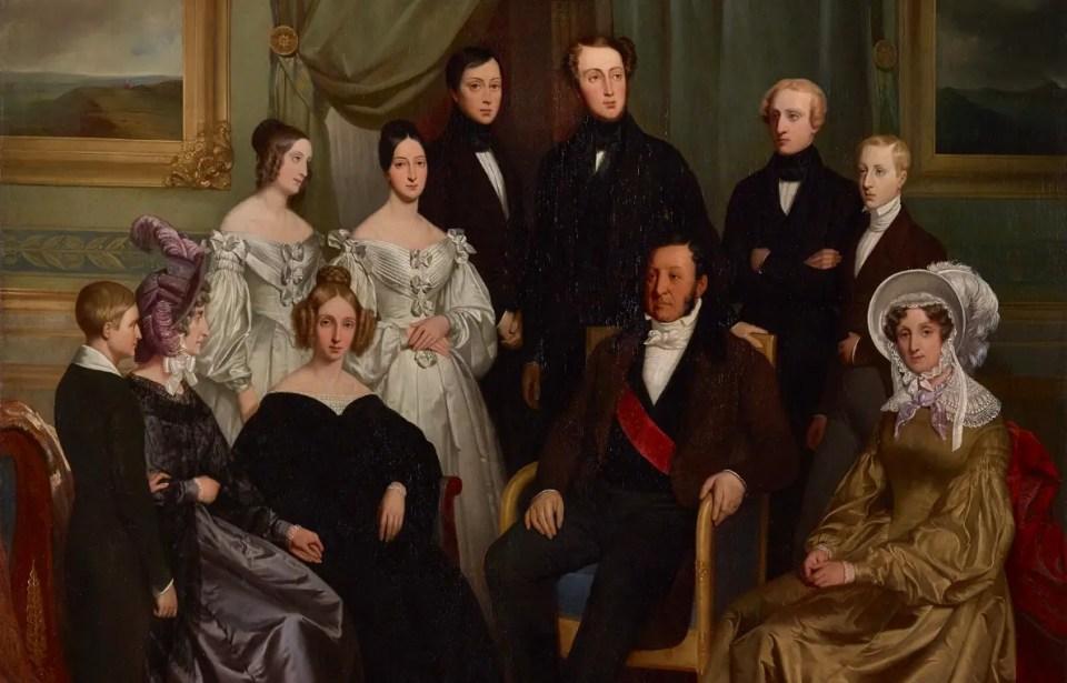 Louis-Philippe et sa famille par Henry Scheffer en 1836 - Musée du château de Versailles et de Trianon