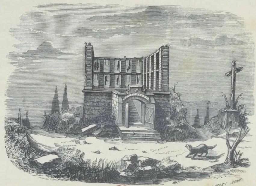 """Gravure extraite de """"Le gibet de Montfaucon : (étude sur le vieux Paris)"""" par Firmin Maillard - Gallica BNF"""