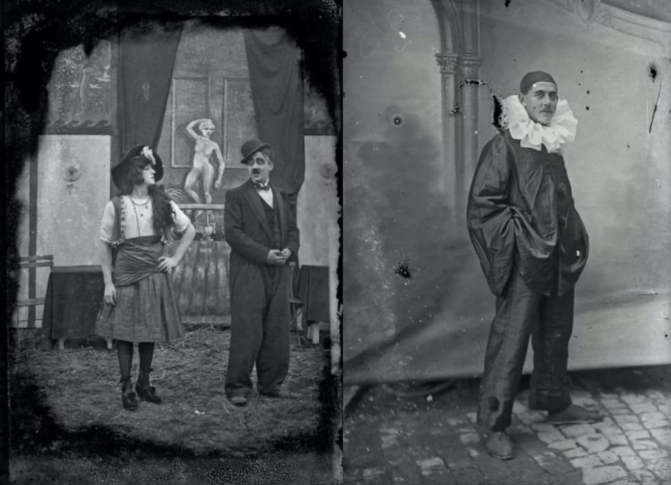 Soldats costumés pour une troupe de théâtre - Collection Thuillier