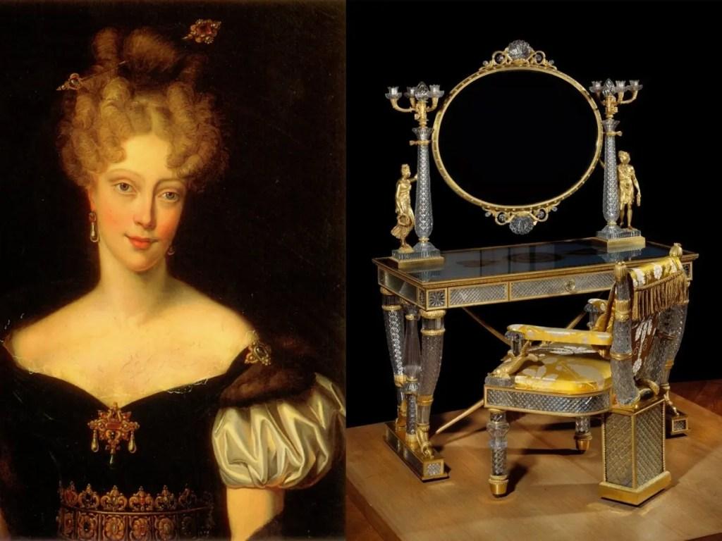 Coiffeuse en cristal Baccarat et bronze doré de la duchesse de Berry
