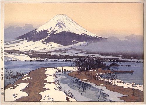 Fujiyama from Kawaguchi Lake by Hiroshi Yoshida, 1926