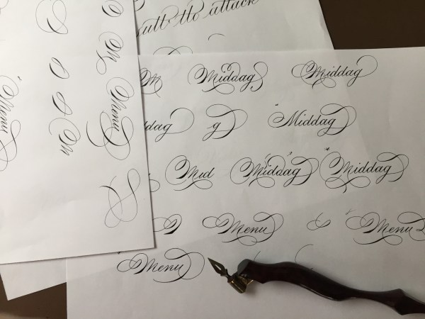 spot calligraphy