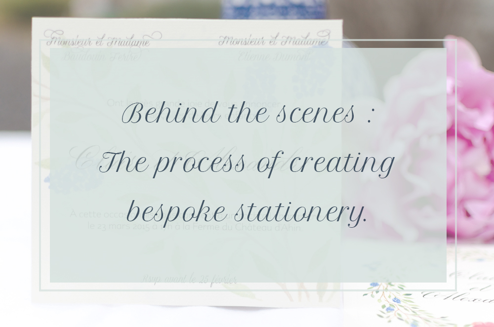 The process of creating bespoke stationery