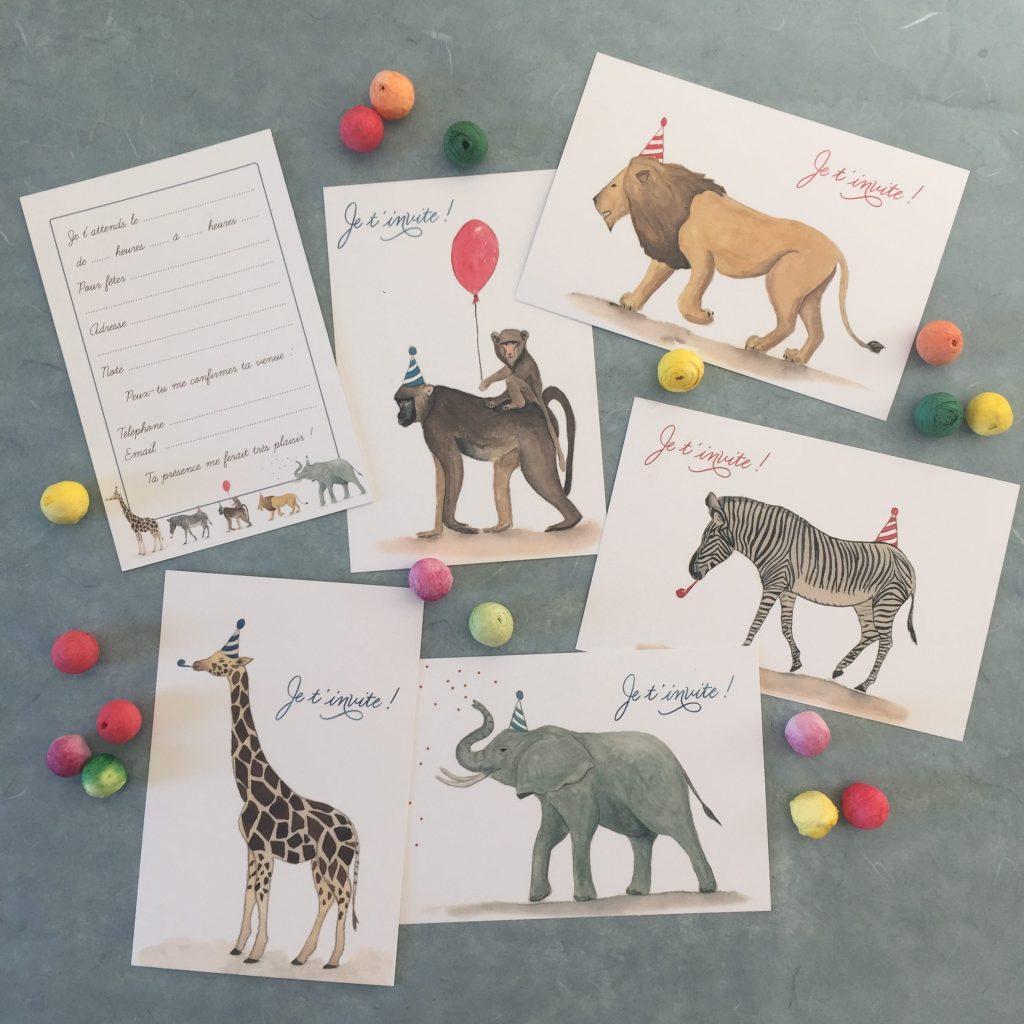 Cartes d'invitations pour enfants
