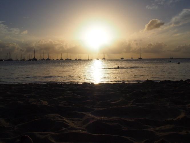 coucher de soleil à saint martin