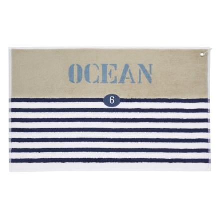 Océan Tapis de bain rayé en coton bleu 50 x 80 cm 19,99