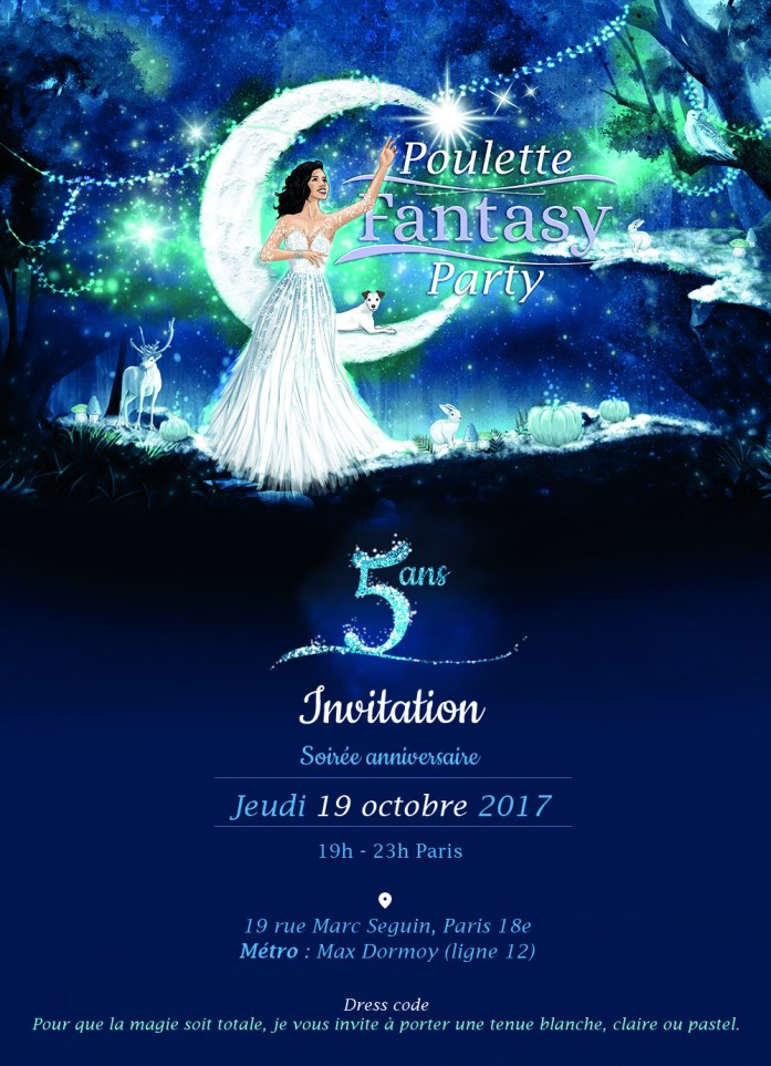 Invitation poulette Fantasy party