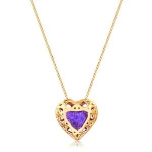 Colar Difusor Pessoal Coração Ouro