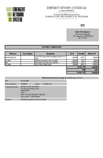 RANARISON Tsilavo est celui qui établit les factures de la société EMERGENT pour la société Connectic - Email du 2 avril 2009_Page_5