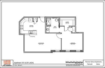 Plummer School Apartment Floor Plans 101 & 201