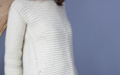 Mon 1er tricot, le whipped cream sweater.