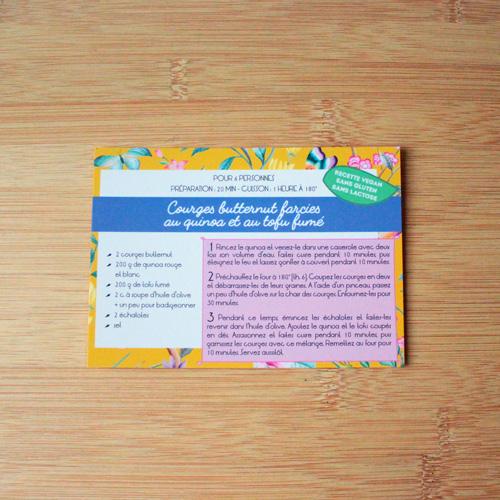 carte recette Plumti.lab - courges butternut farcies au quinoa et au tofu fumé