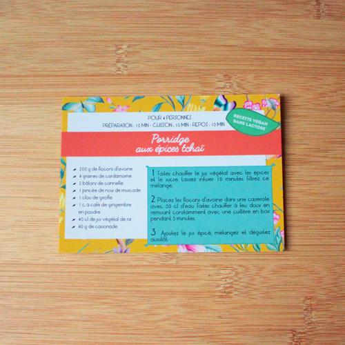 carte recette Plumti.lab - porridge aux épices tchaï