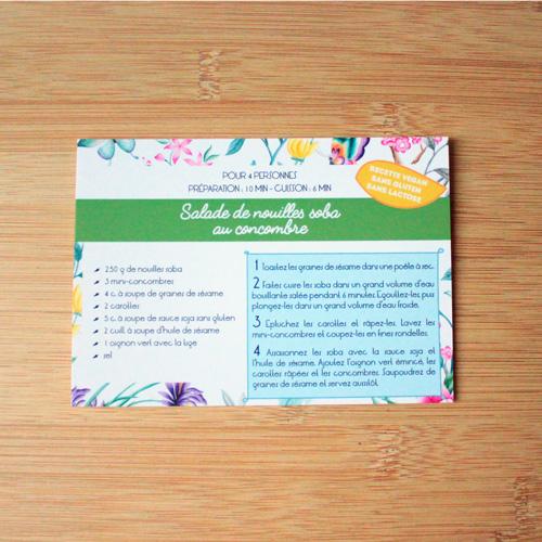 carte recette Plumti.lab - Salade de nouilles soba au concombre