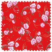 Tissu rouge pivoines Petit Pan