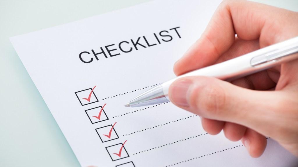 check-list de cérémonie laïque