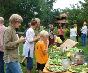 "Our Buffet includes fresh foods from our ""Happy Farm"" and organic gardens"