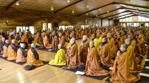 Plum Village Winter Retreat 2014-15 opening ceremony mahasangha 2