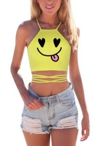 Perfect Rave Outfit Ideas Cropped Halter Top