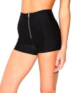 Perfect Rave Outfit Ideas Zipper High Waisted Rave Shorts