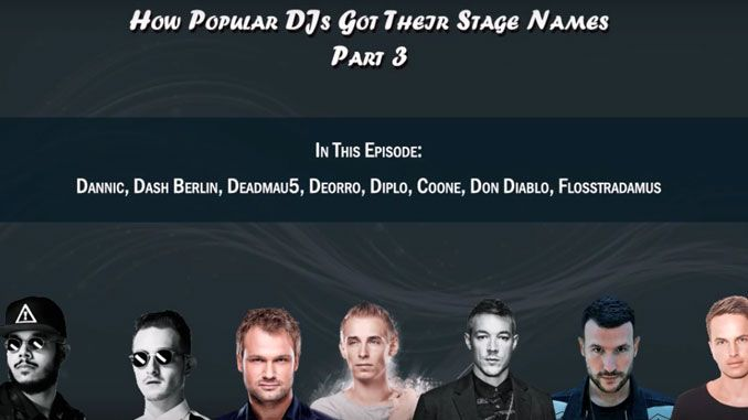 How Popular DJs Got Their Stage Names