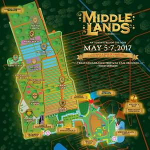 Official Festival Map for Middlelands 2017