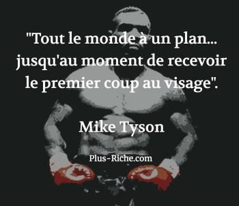Mike Tyson citation tout le monde a un plan