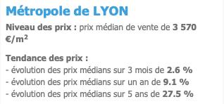 prix immobilier Lyon crise covid