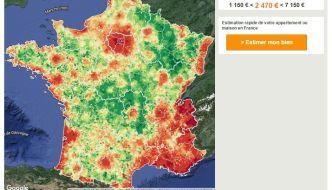 Carte de France des prix de l'immobilier