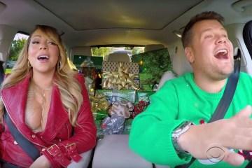 """En el Carpool Karaoke también se celebra la navidad y lo hacen con """"All I Want For Christmas is You"""" de Mariah Carey. Cusica Plus"""