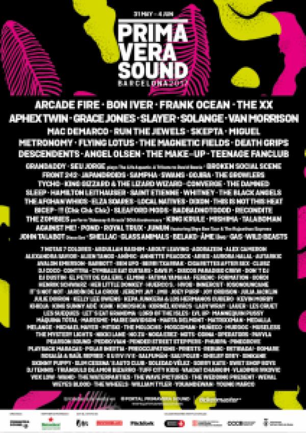 Primavera Sound 2017 Line Up Cusica Plus