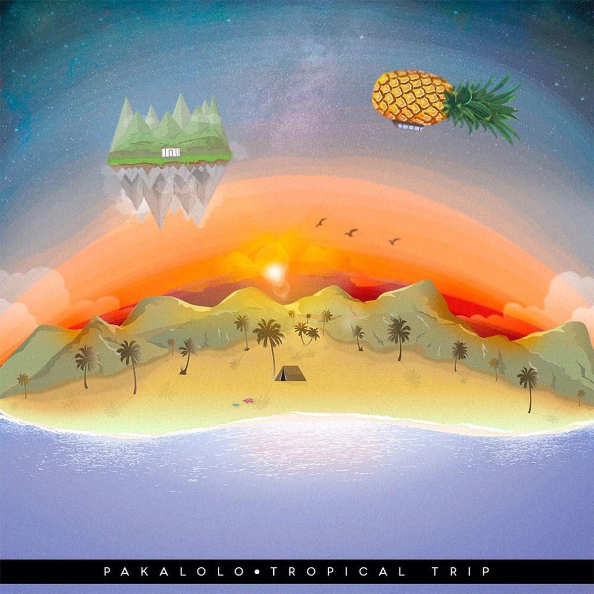 """Portada de """"Tropical Trip"""" primer disco de Pakalolo. Cusica plus"""
