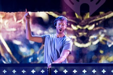 "Calvin Harris presento su nuevo sencillo, la entretenida ""Feels"" con Pharrel, Katy Perry y Big Sean."