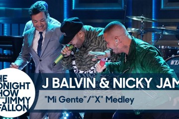 "J Balvin y Nicky Jam cantaron ""X"" en el show de Jimmy Fallon. Cusica Plus."