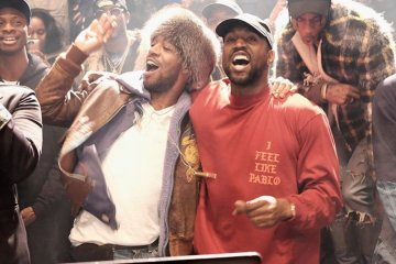 Kanye West y Kid Cudi se juntaron en el último día del Coachella. Cusica Plus.