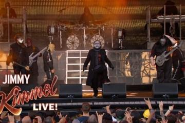 """Slipknot se presentó en el show de Jimmy Kimmel para cantar su nuevo tema """"Unsainted"""". Cusica Plus."""