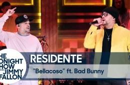 Residente y Bad Bunny cantaron 'Bellacoso' en el nuevo de Jimmy Fallon. Cusica Plus.