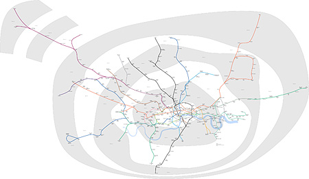 Happy birthday  London Underground    plus maths org Accurate London Underground map