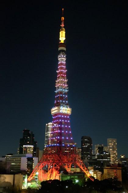 東京タワー&東京スカイツリーツアー ザ・プリンス パークタワーから撮影