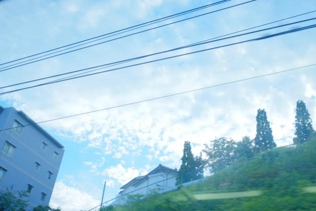 車窓_雲がおもしろい