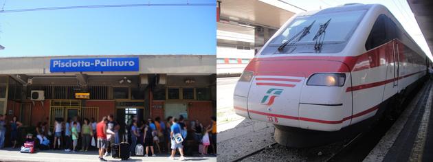 楽しかったアグリ ピショッタ・パリヌーロの駅まで送ってもらう