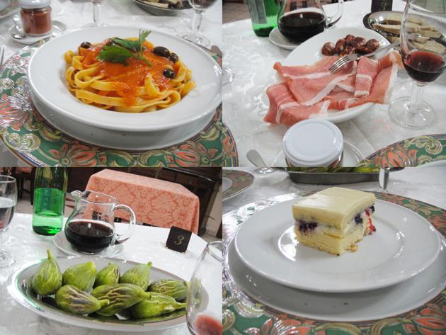 南イタリアのアグリ ウエルカムディナー お腹いっぱい