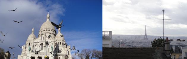 サクレクール寺院とモンマルトル 好きな風景